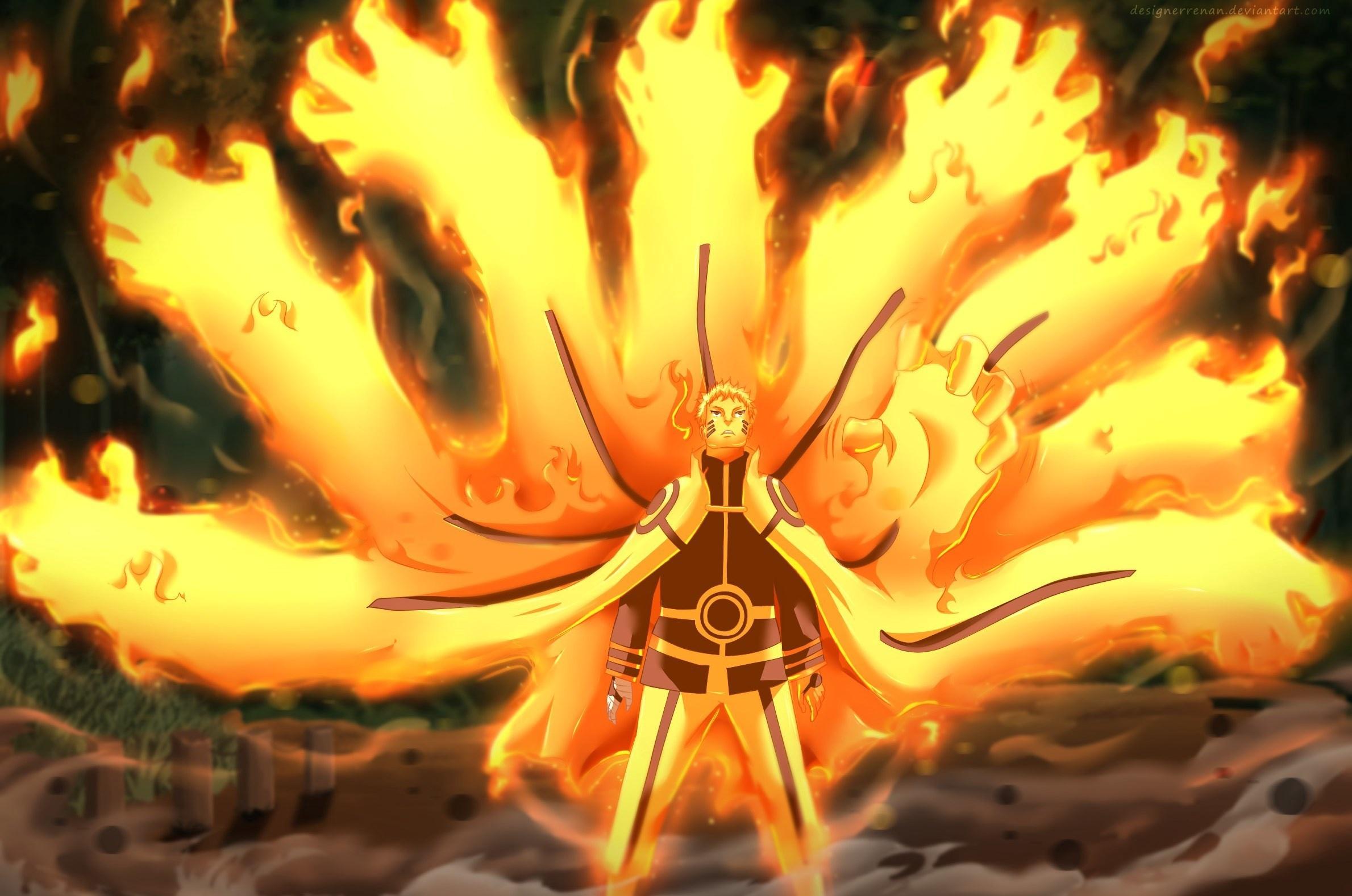 Best 47 Naruto Uzumaki Kyuubi Mode Wallpaper on