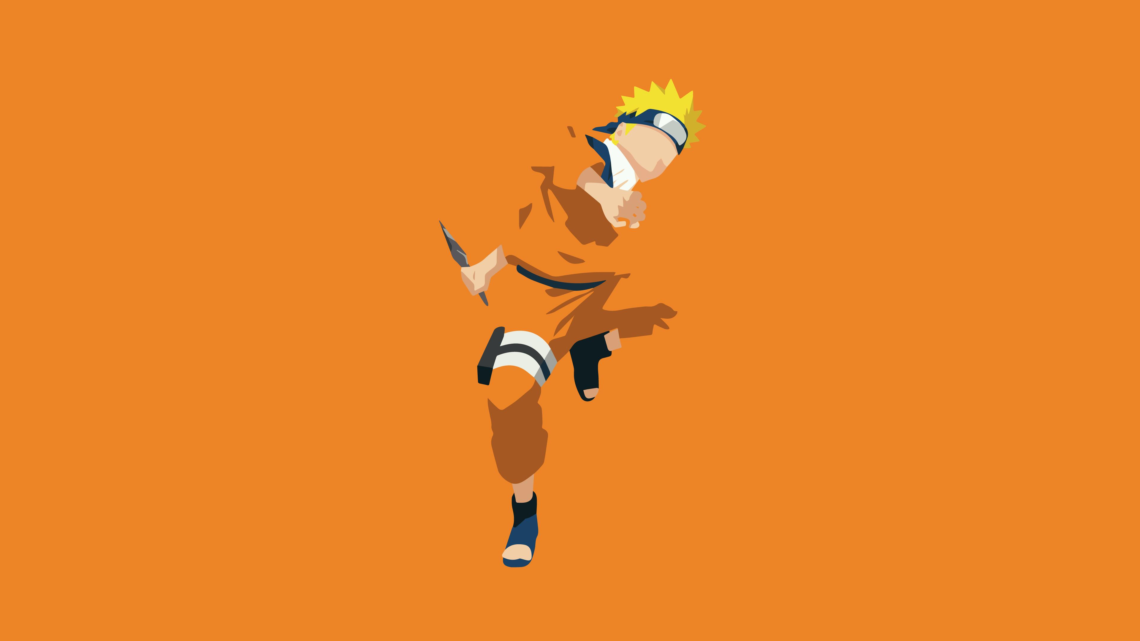 Naruto Uzumaki Minimalist Anime Wallpaper 4k Ultra HD ID3619