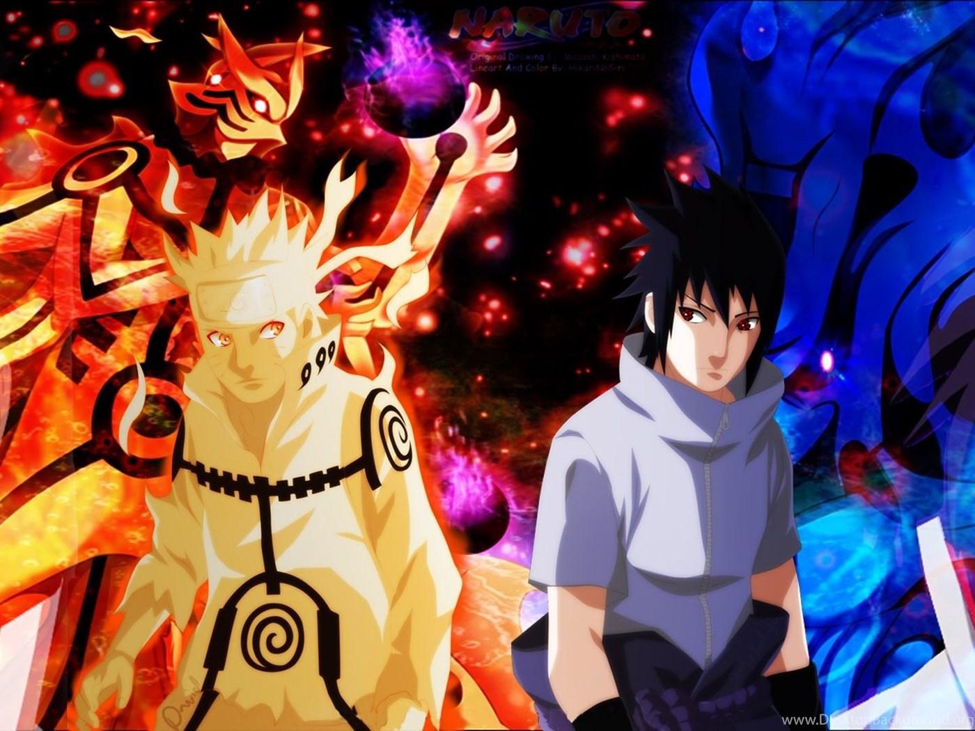 Naruto Vs Sasuke Dual Monitor Wallpaper Freewallanime