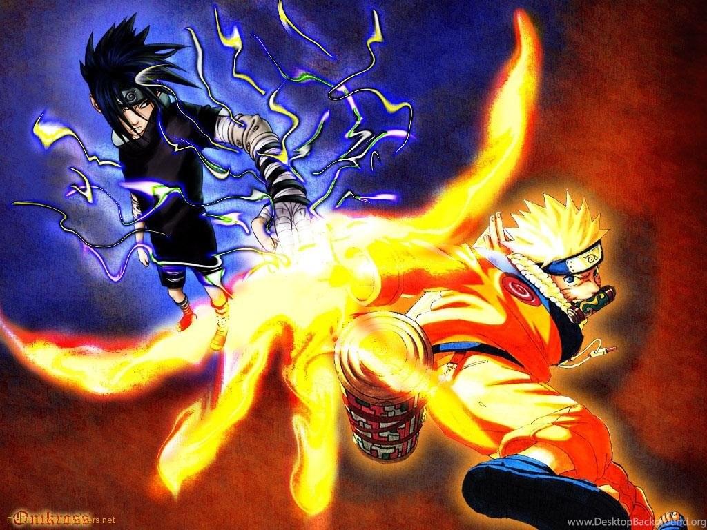 Naruto Vs Sasuke Dual Monitor Wallpaper posted by Michelle ...