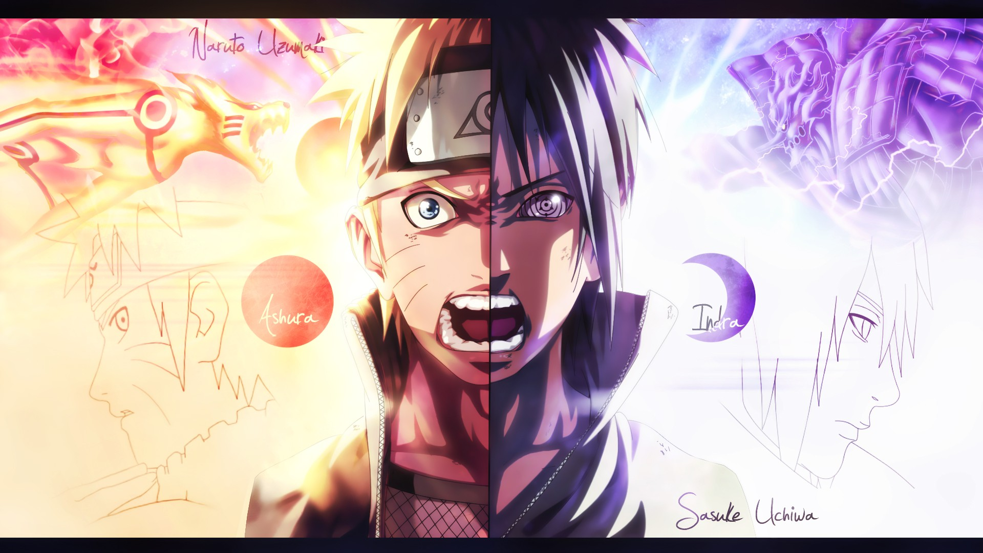 Naruto Vs Sasuke Wallpaper Hd Posted By Sarah Simpson
