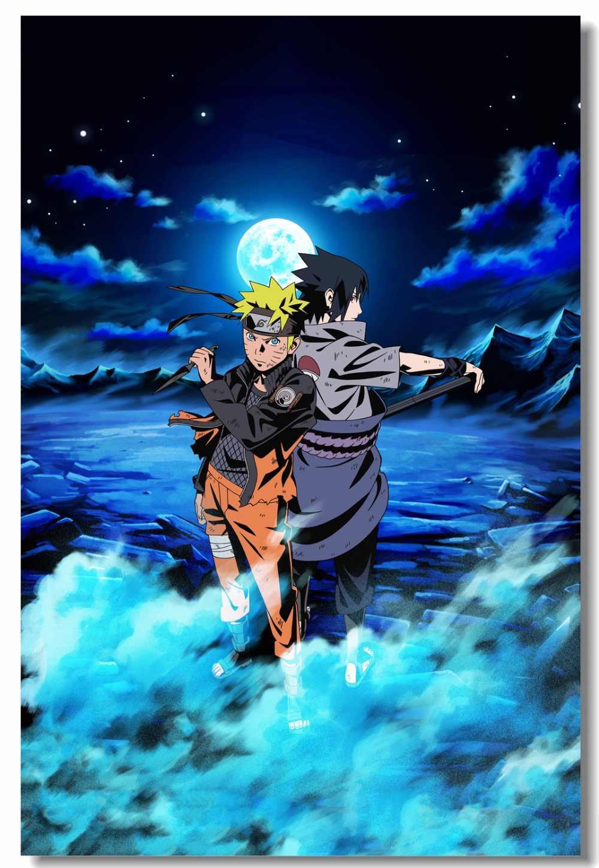 Custom Canvas Wall Paintings Uzumaki Naruto Poster Sasuke