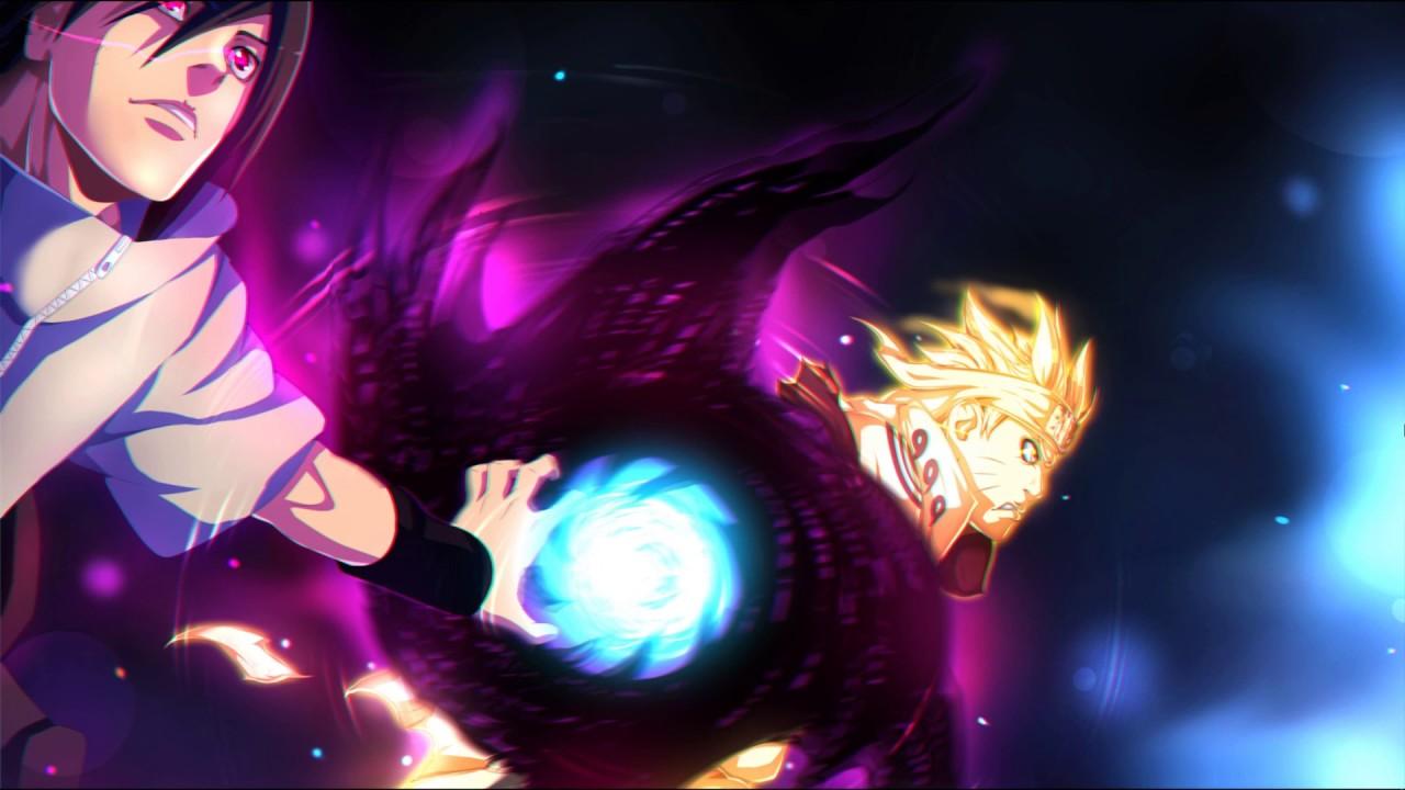 Naruto and Sasuke Rasengan and Amaterasu live wallpaper wallpaper engine
