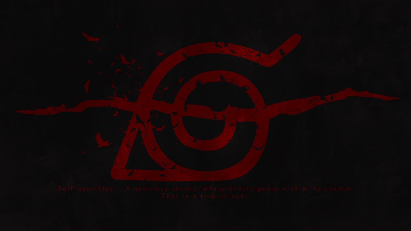 Download 1366x768 Naruto Konoha Logo Wallpapers for Laptop