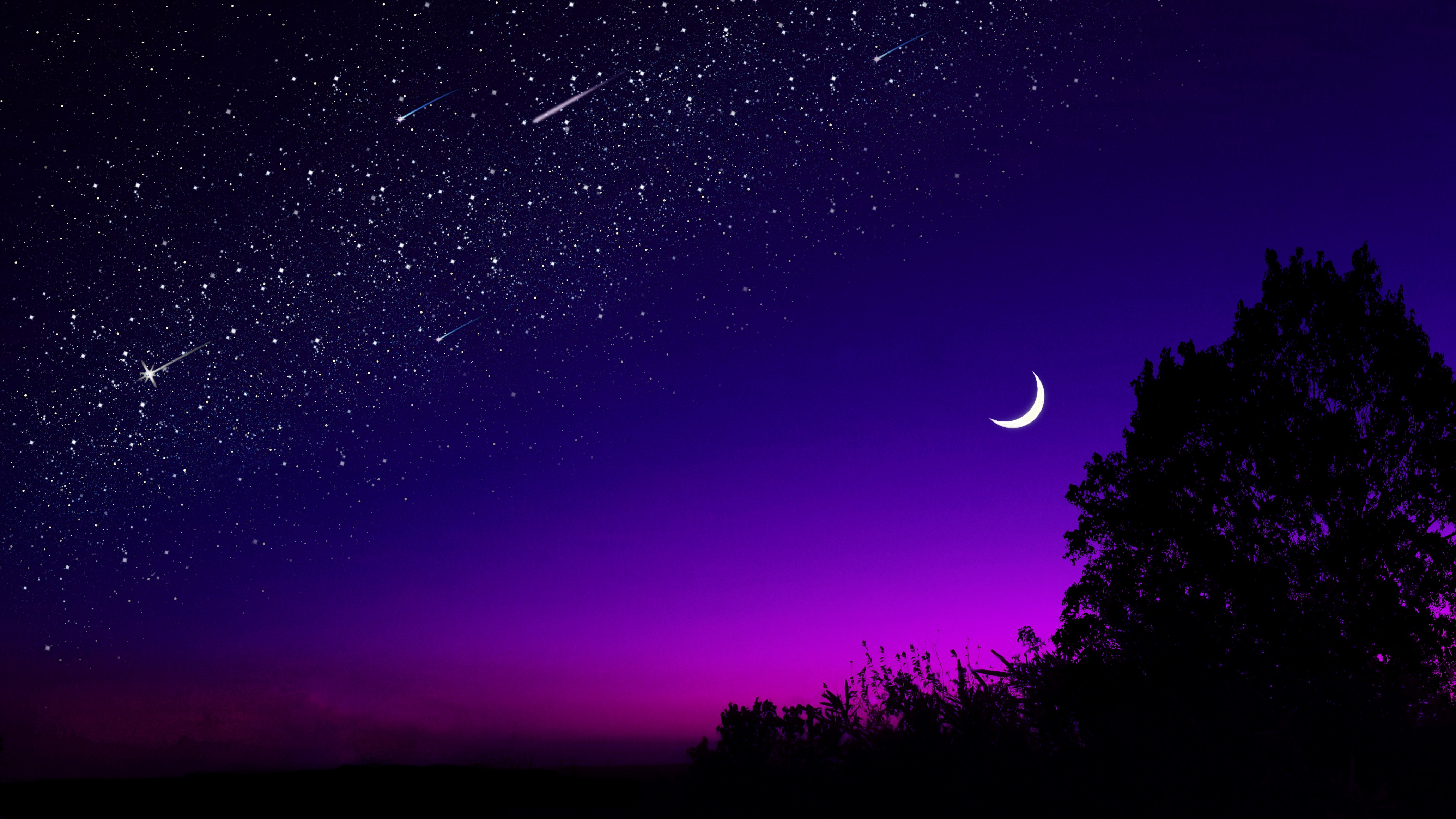 Nature Hd Wallpaper Purple Sky Posted By Christopher Peltier