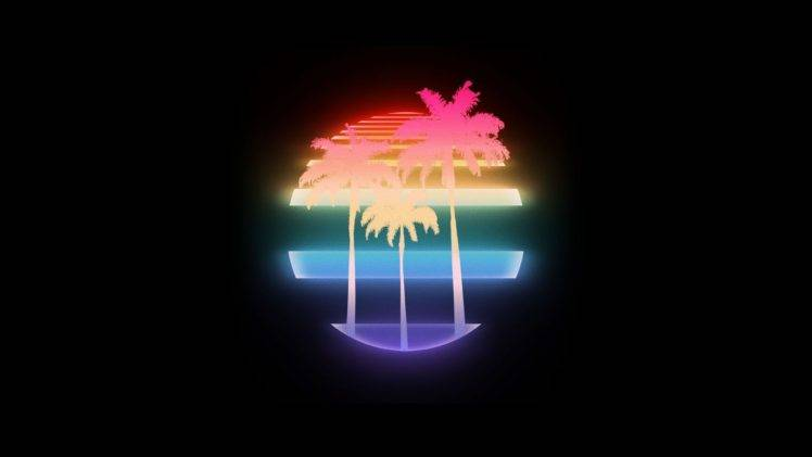 1980s Palm trees Neon Wallpapers HD Desktop and Mobile
