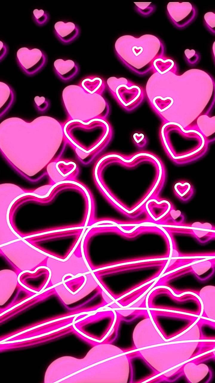 neon hearts Wallpaper by a123k 87 Free on ZEDGEtm