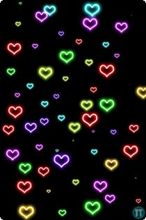 Neon Heart Wallpaper Background Heart wallpaper Heart