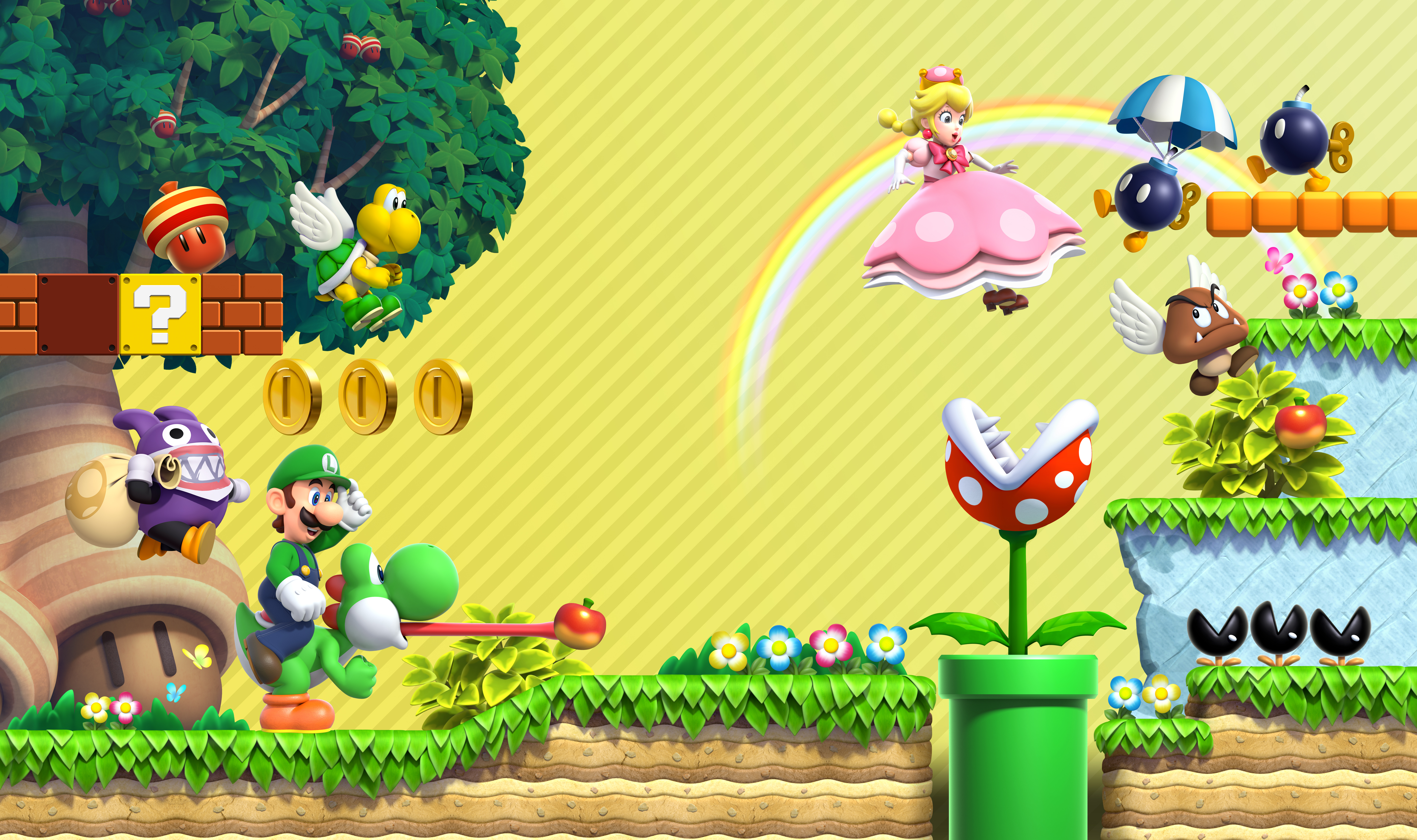 New Super Mario Bros U Wallpapers Posted By Sarah Sellers