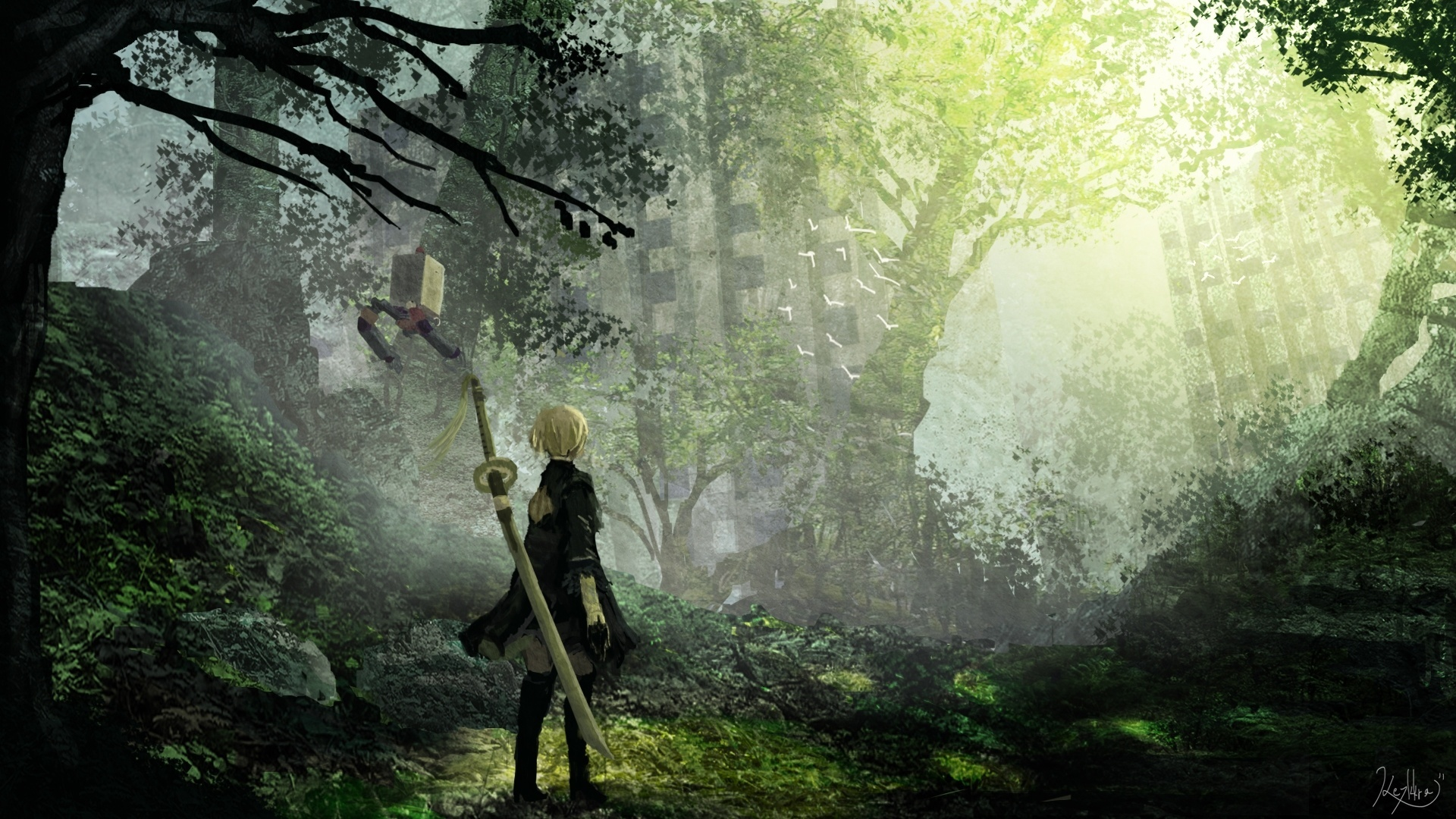 Nier Automata Hd Wallpaper Posted By Sarah Simpson