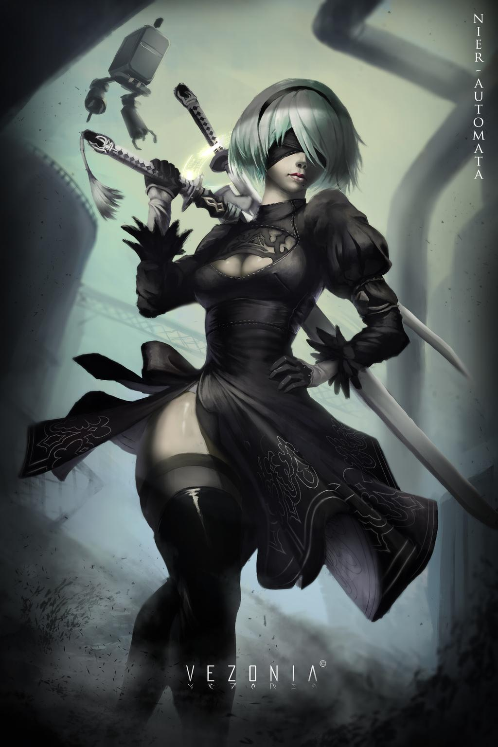Nier Automata Wallpaper Iphone Posted By Sarah Tremblay