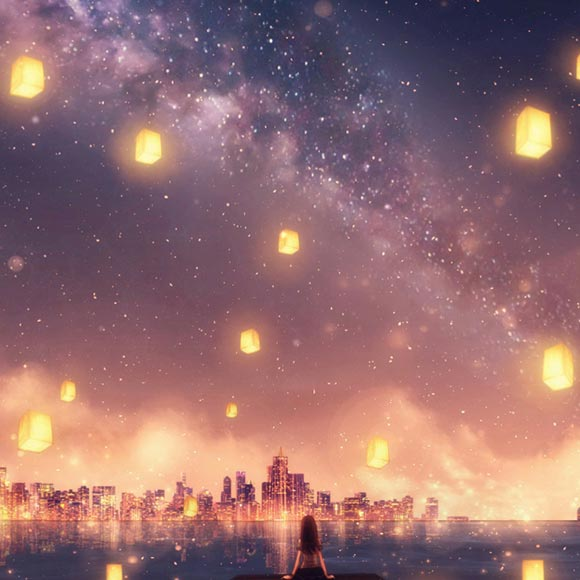 Night Sky Anime Wallpaper Posted By Zoey Walker