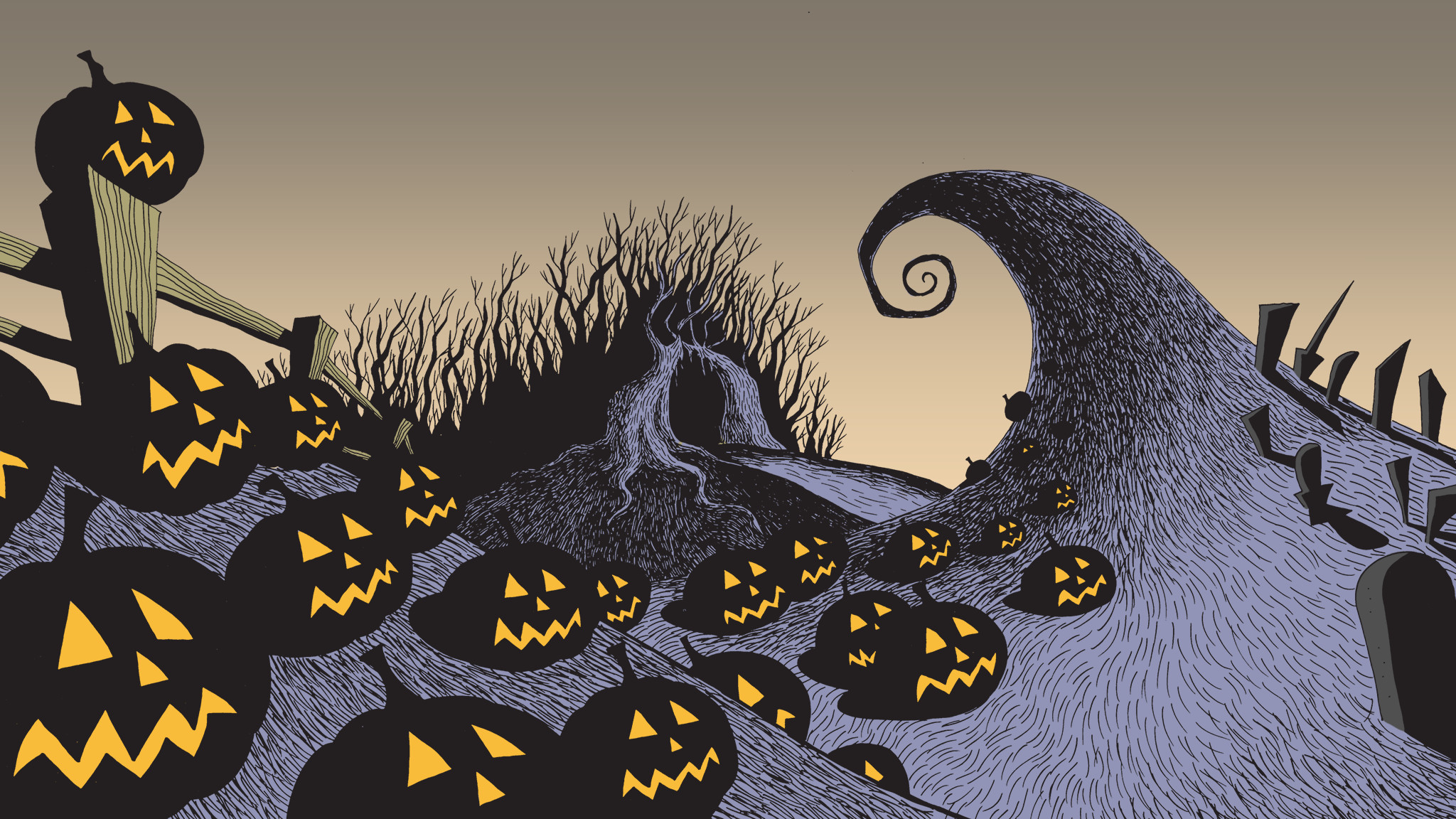 Nightmare Before Christmas Wallpaper Hd Posted By Michelle Simpson