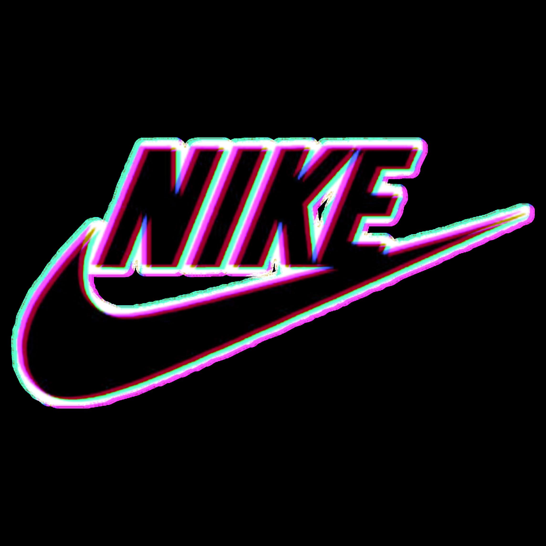 nike black clothes glitch text tumblr 3d logo