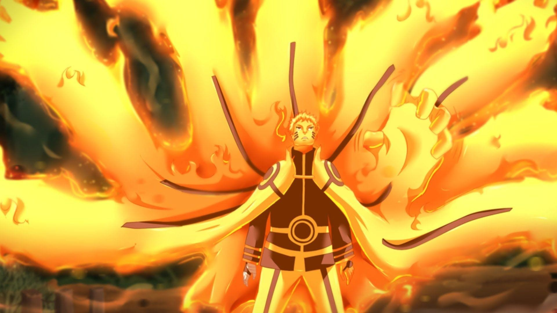 Naruto Hokage Nine Tails Mode Hd Wallpapers and backgrounds