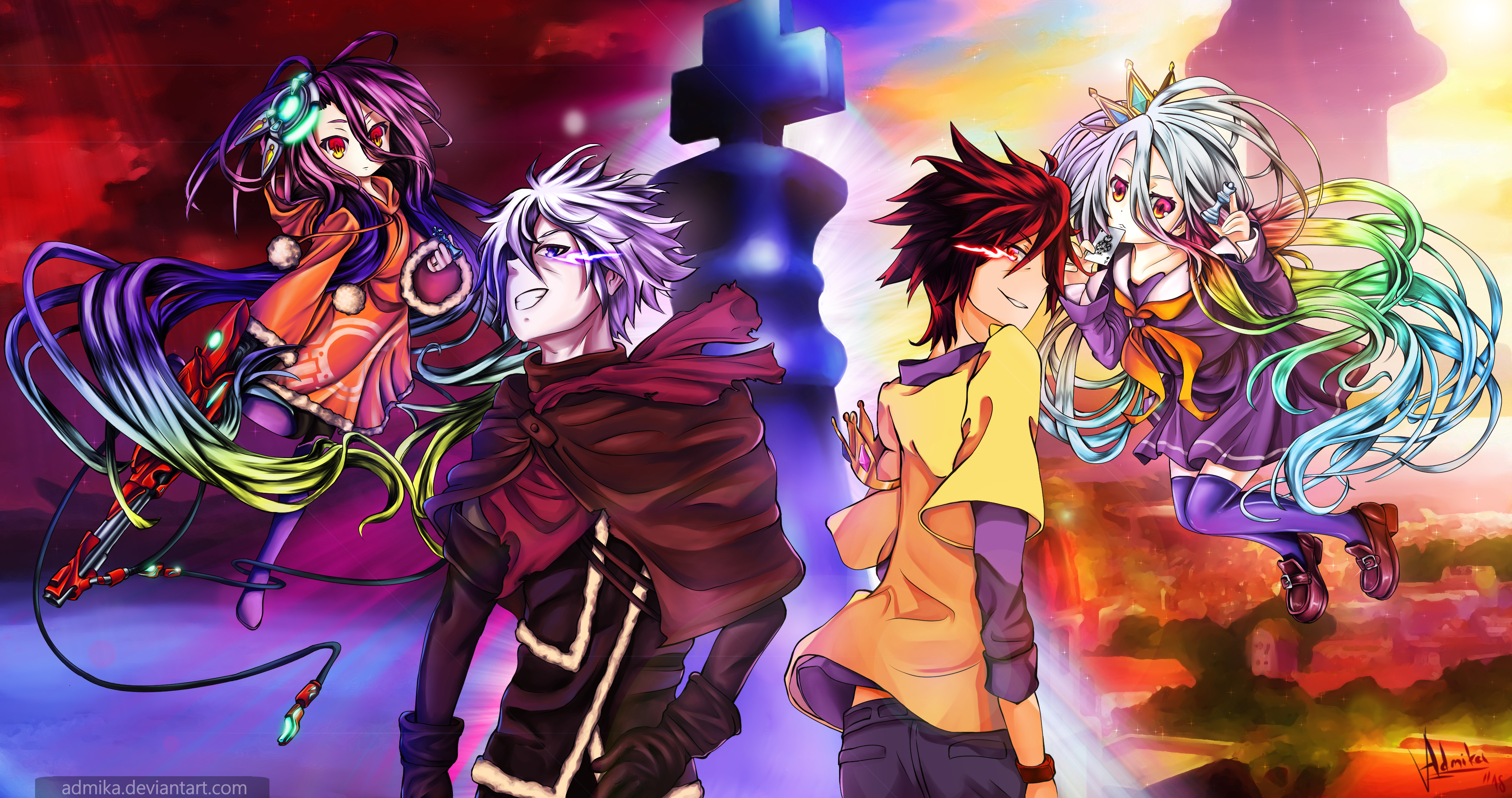 No Game No Life Hd Wallpaper Posted By John Thompson
