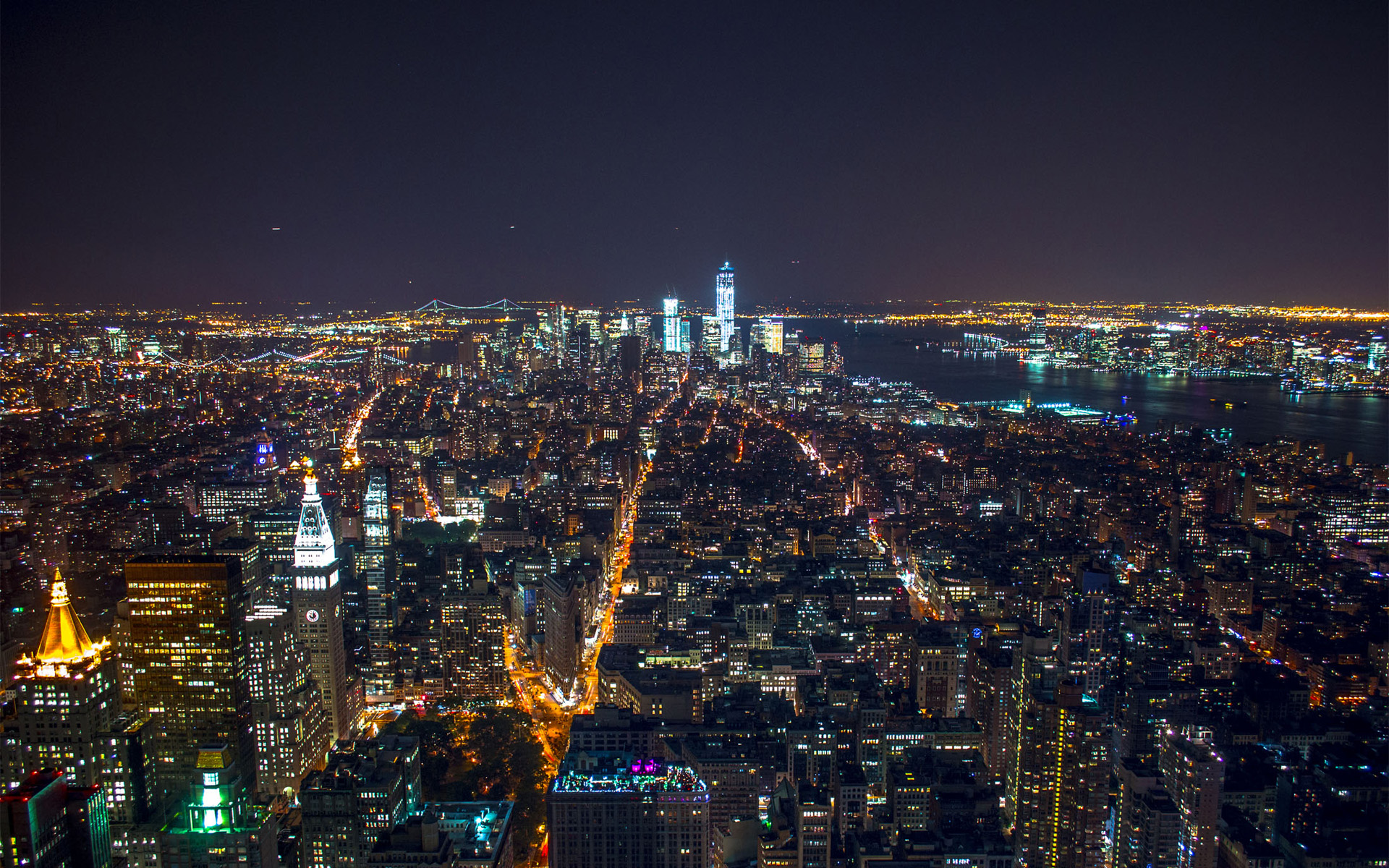 Nyc At Night Wallpaper Posted By Ethan Mercado