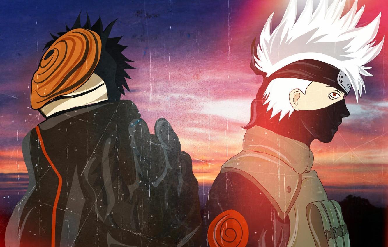 Photo Wallpaper Naruto Obito Uchiha Hatake Kakashi Obito
