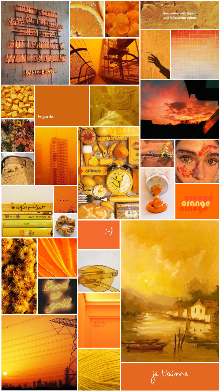 Orange Aesthetic Background Posted By Christopher Peltier