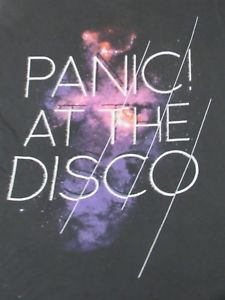 Details about PANIC AT THE DISCO GALAXY BACKGROUND MEDIUM BLACK T SHIRT V1483