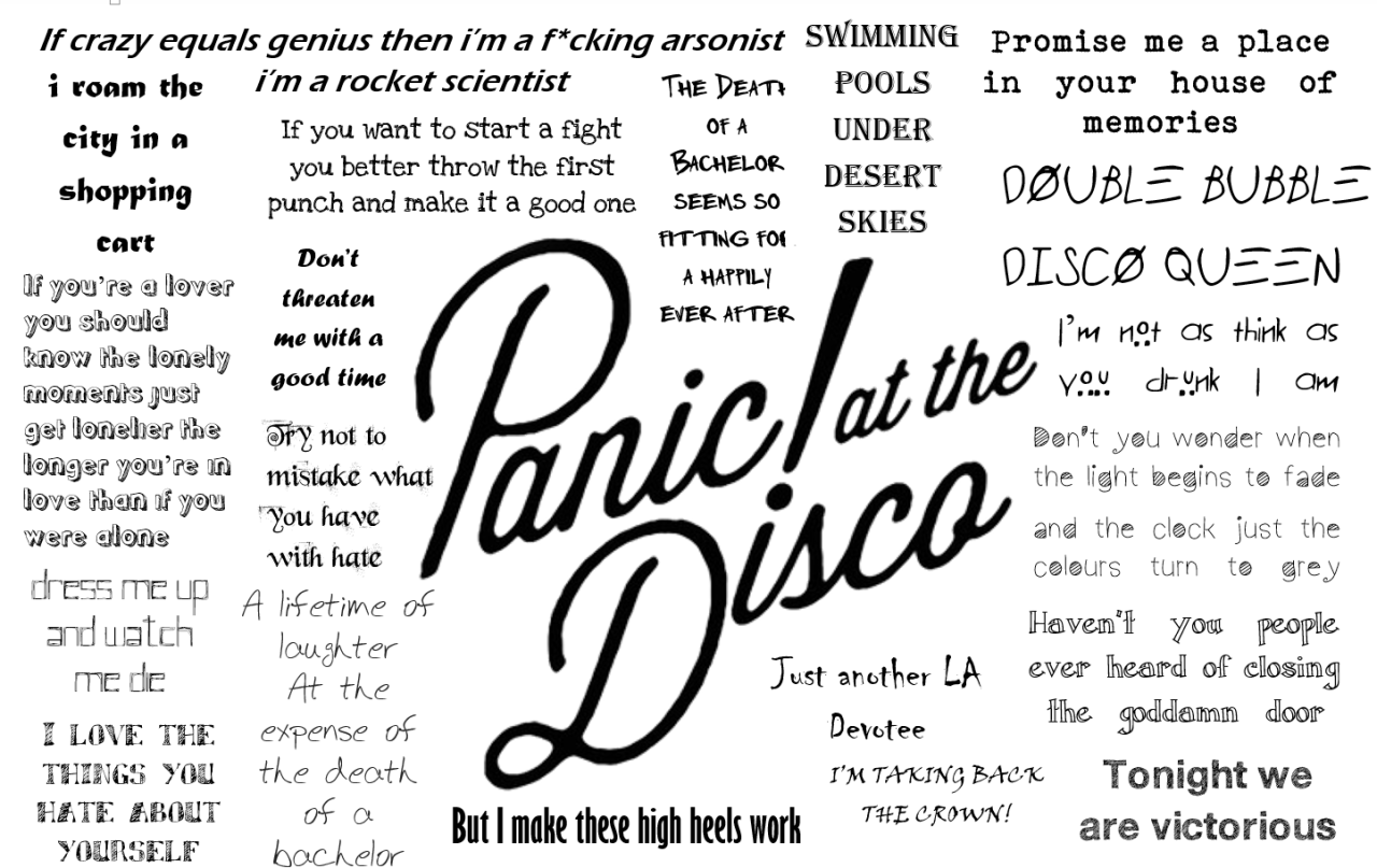 Panic At The Disco Desktop Wallpaper 634567 Font Panic At