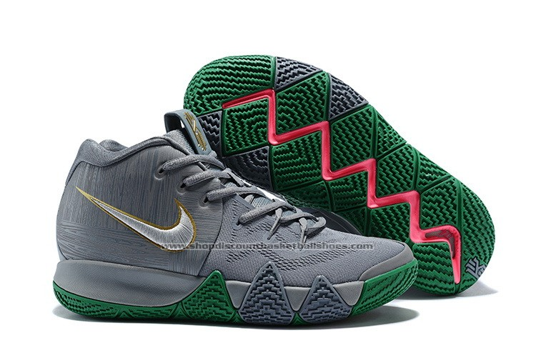 kyrie irving shoes grey and green