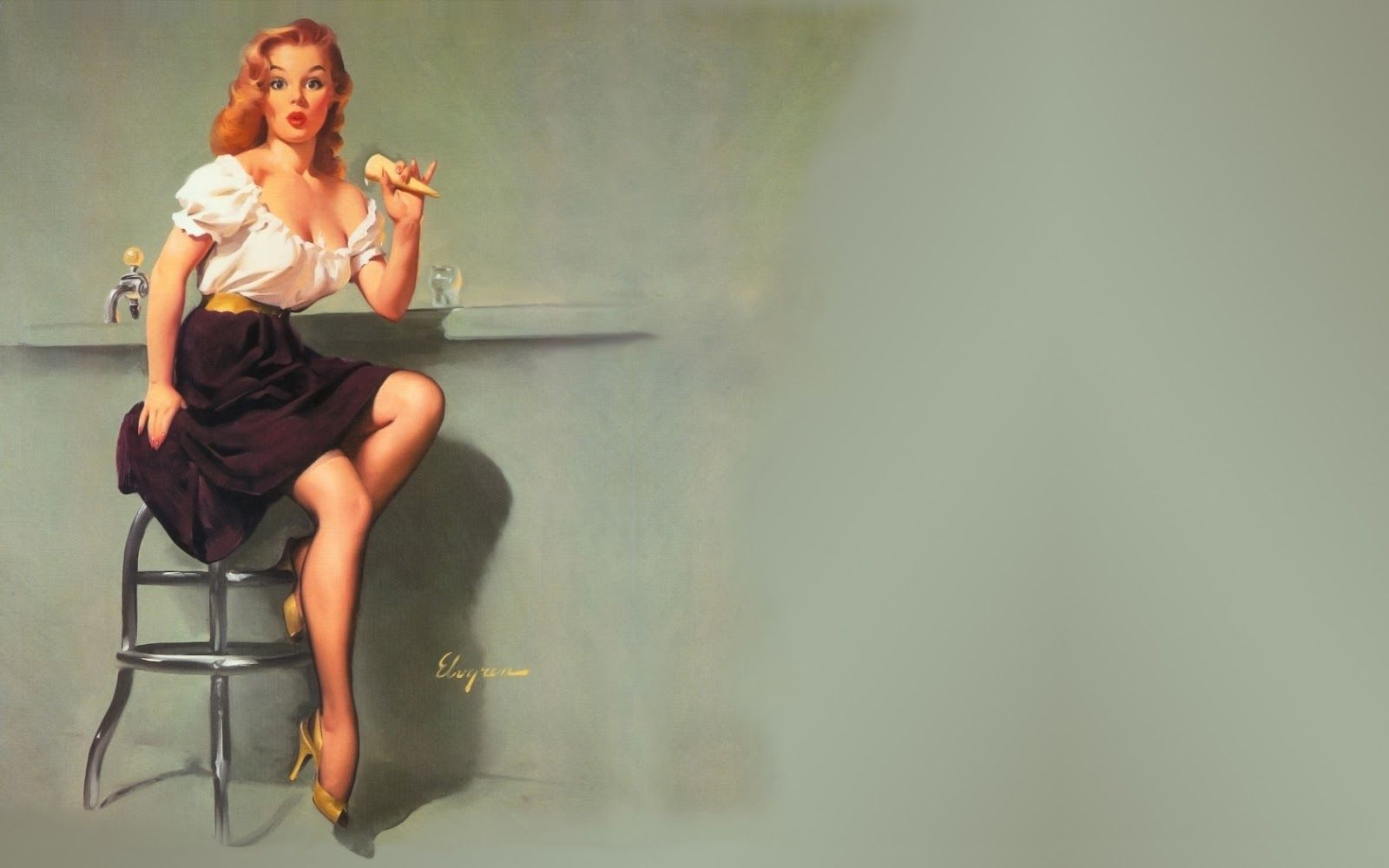 Pin Up Girl Hd Wallpaper Posted By Ethan Cunningham