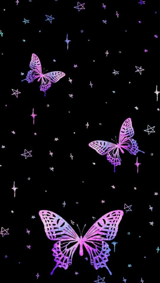 Pink And Black Butterflies Wallpaper Posted By Zoey Mercado