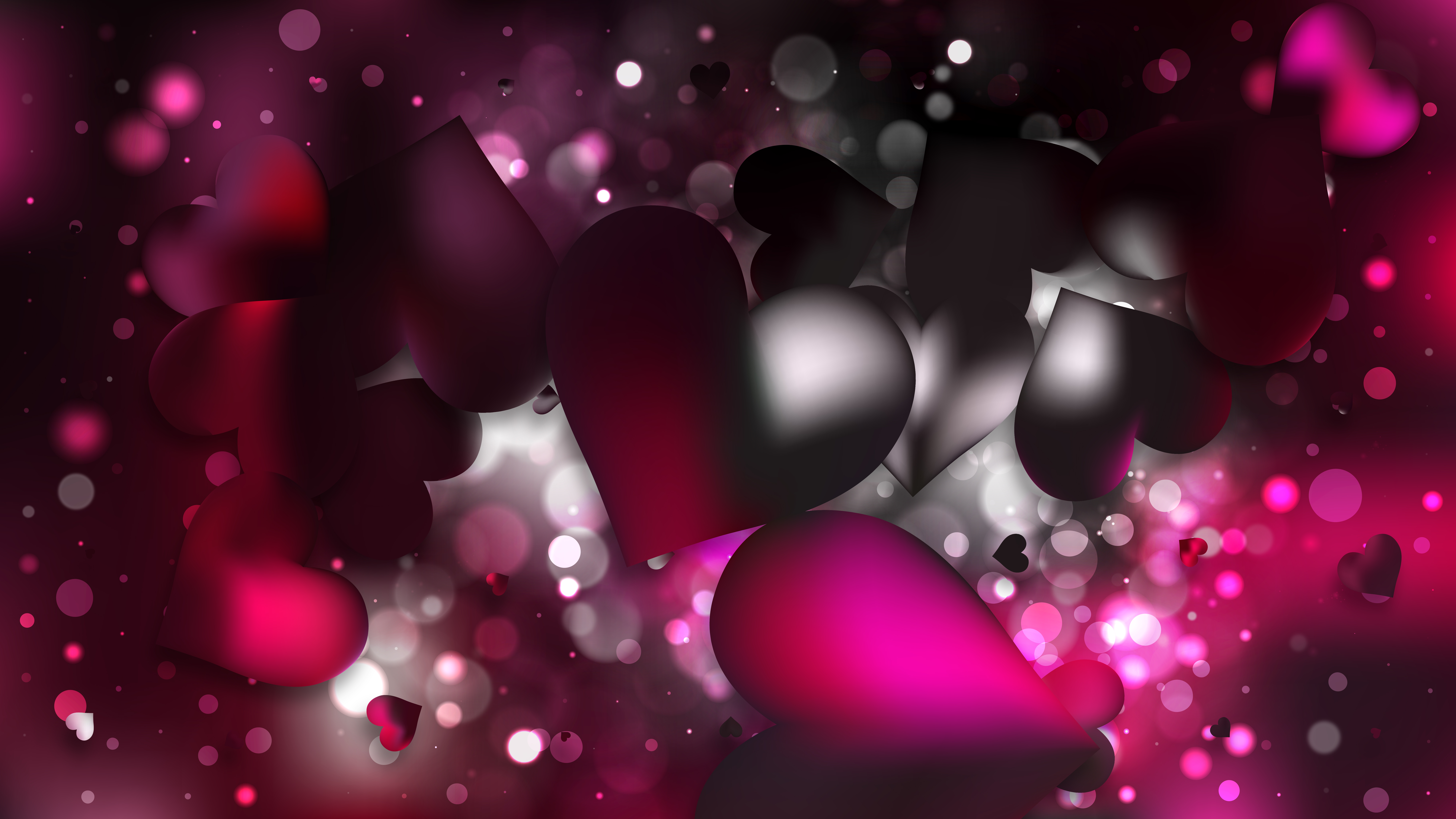 Pink And Black Hearts Wallpaper Posted By Michelle Mercado