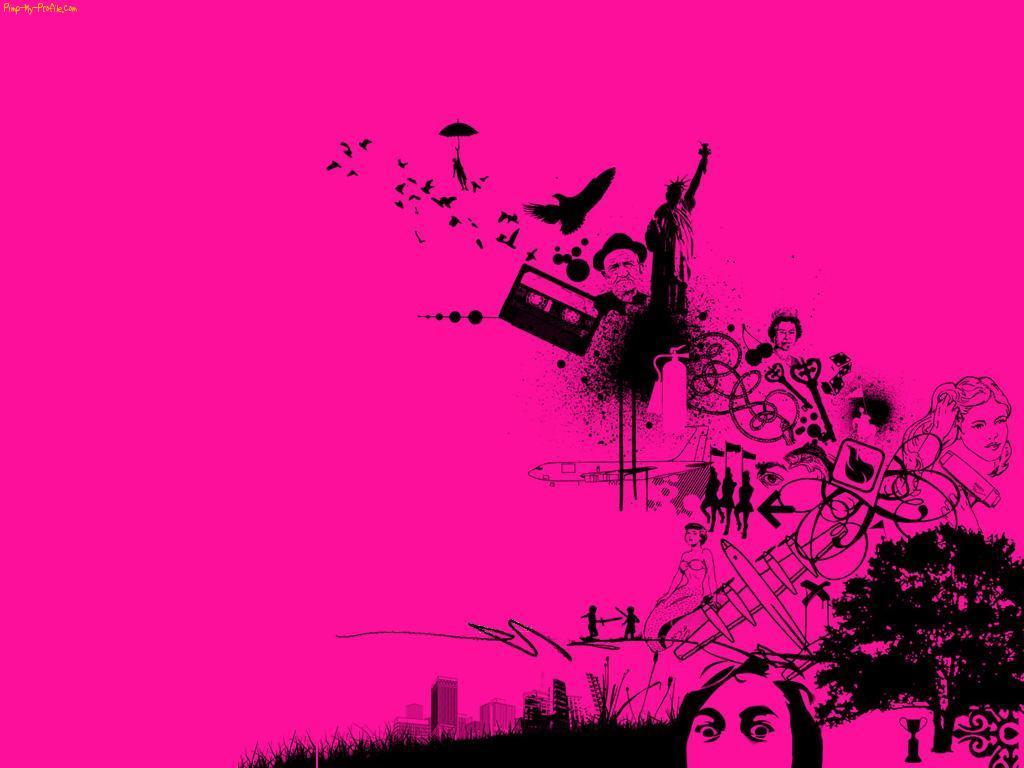 Pink And Black Skull Backgrounds Posted By Christopher Anderson