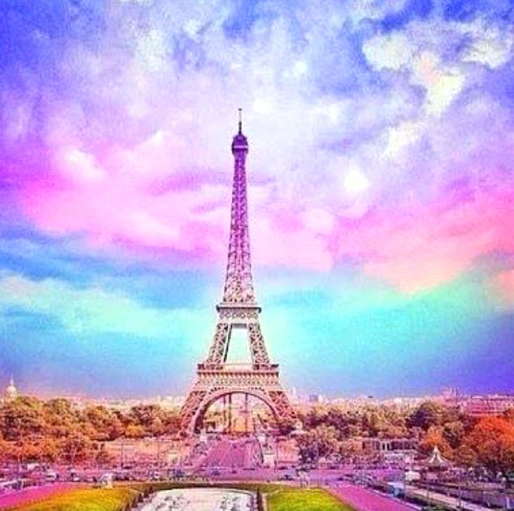 Pink Eiffel Tower Wallpaper Posted By John Simpson