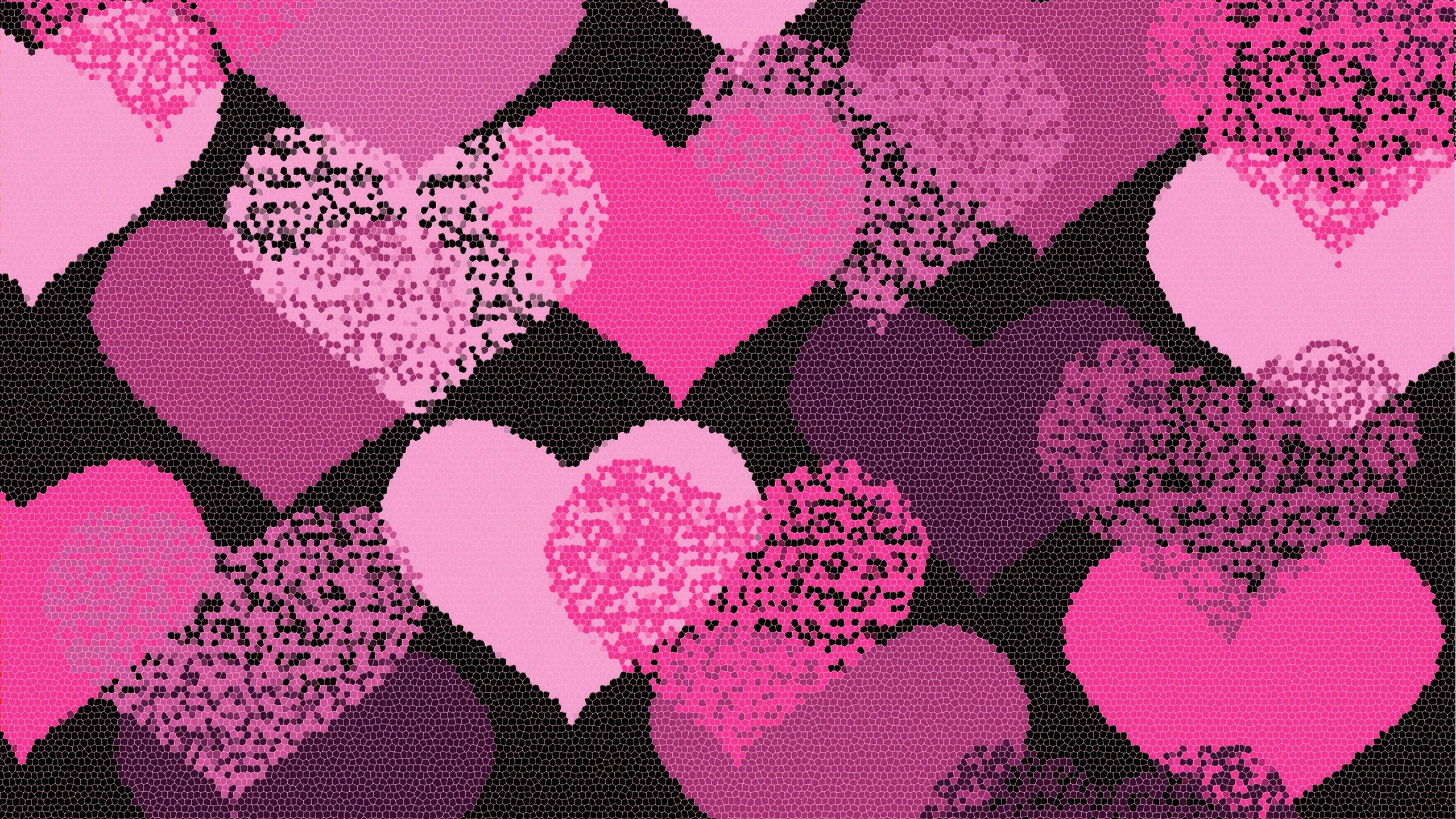 100 Beautiful Pink Hearts Wallpapers Combination Watt