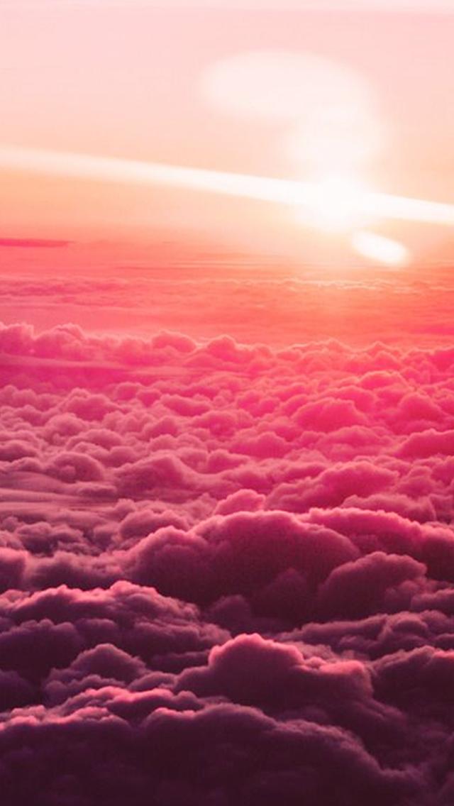 Cloud Wallpaper Tumblr Pink Sky Wallpaper Iphone Free