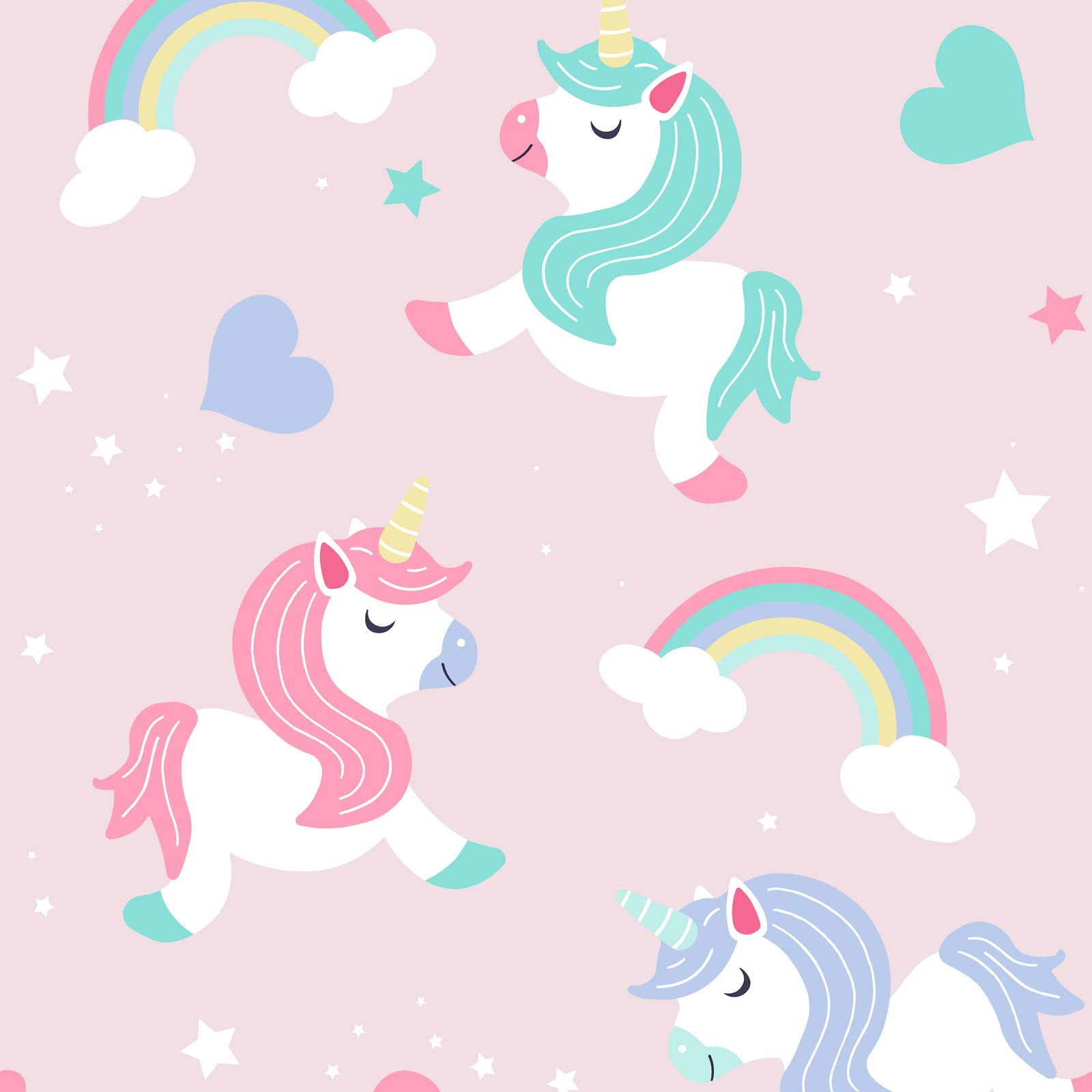 Details about World of Wallpaper Believe in Unicorns wallpaper Pink A365 CAO 1
