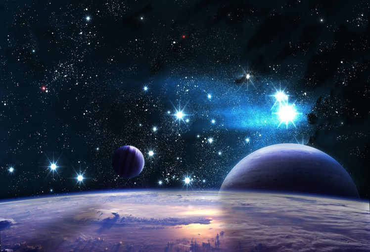stars Space Galaxy Clouds Planet Nebula HD Wallpapers
