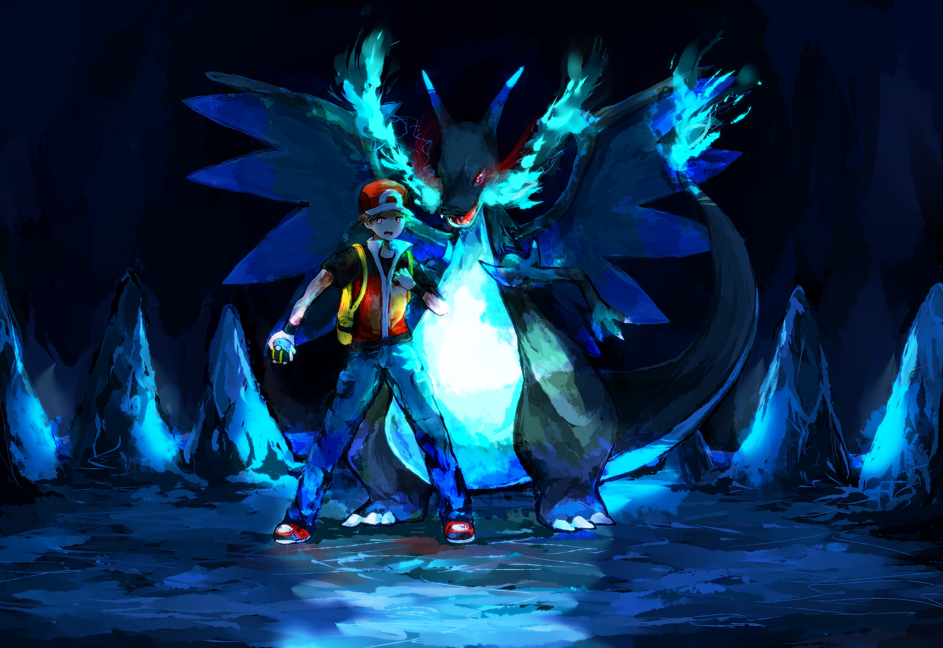 Pokemon Trainer Red Vs Blue Wallpaper Posted By Michelle Tremblay