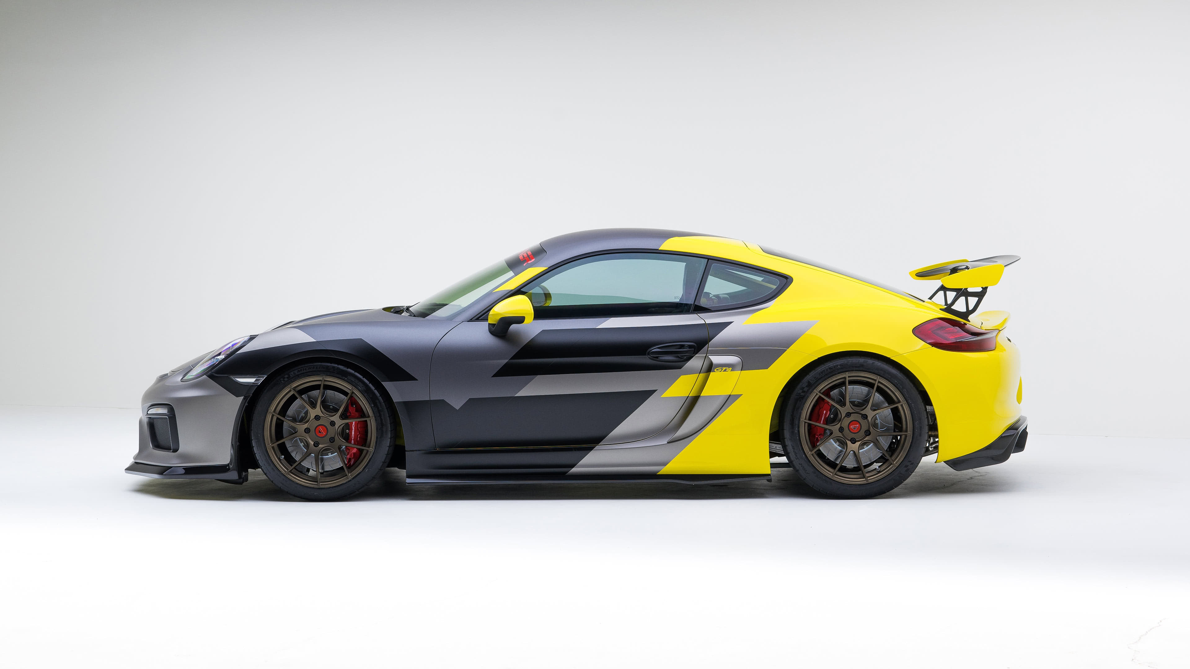 Porsche Cayman GT4 Silk Poster//Wallpaper 24 X 13 inches