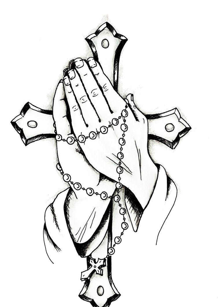 Praying Hands And Rosary Posted By Ryan Johnson