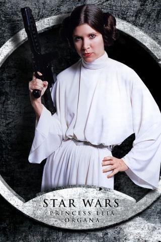 320x480 Princess Leia Iphone wallpaper