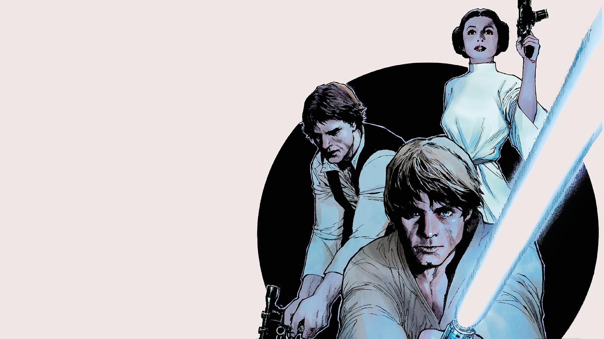 Han Solo Luke Skywalker Princess Leia Star Wars HD