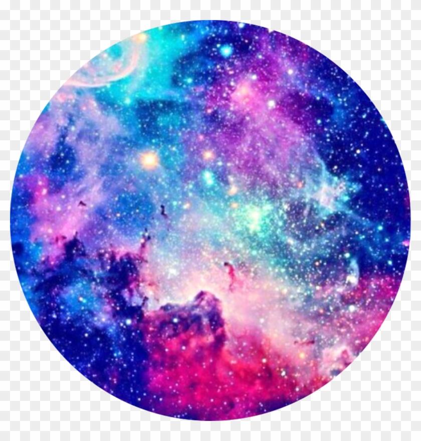 galaxy pink blue purple stars circle background HD