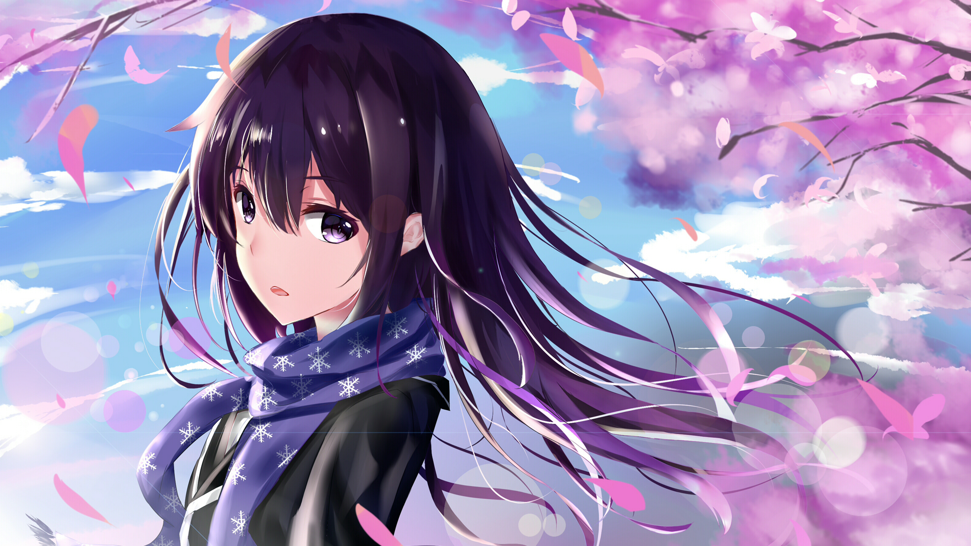 Download Purple Anime Girl Wallpaper HD Backgrounds