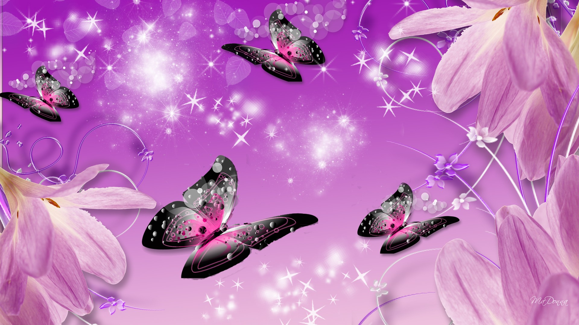 Purple Butterflies Wallpaper Posted By Michelle Mercado