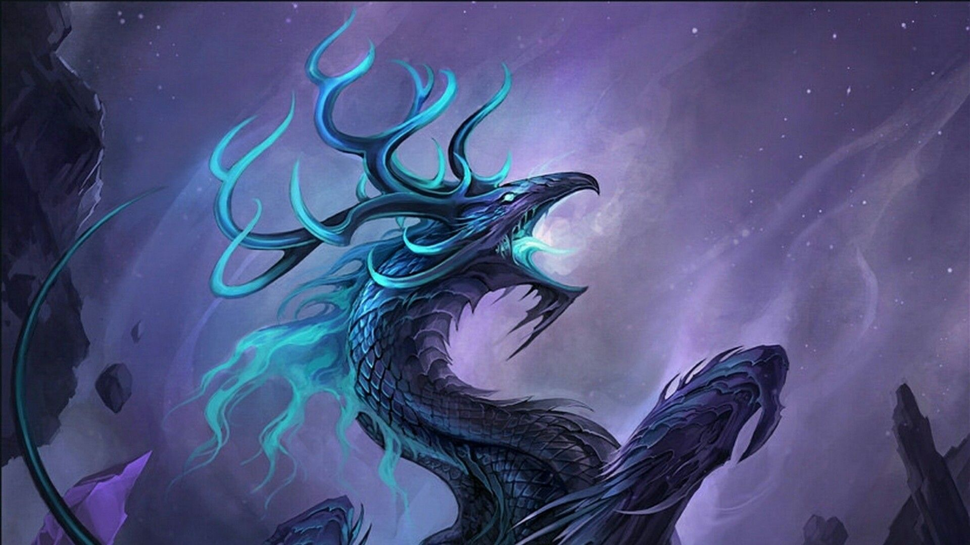Purple Dragons Wallpapers Wallpaper Cave