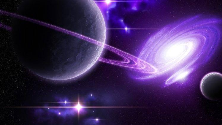 space, Purple, Planet, Galaxy, Render, CGI Wallpapers HD