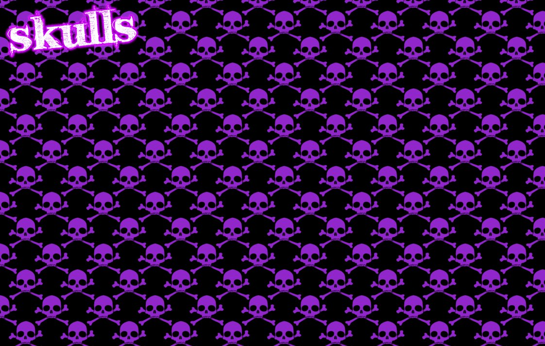 Purple Skulls Wallpaper Posted By Ethan Thompson