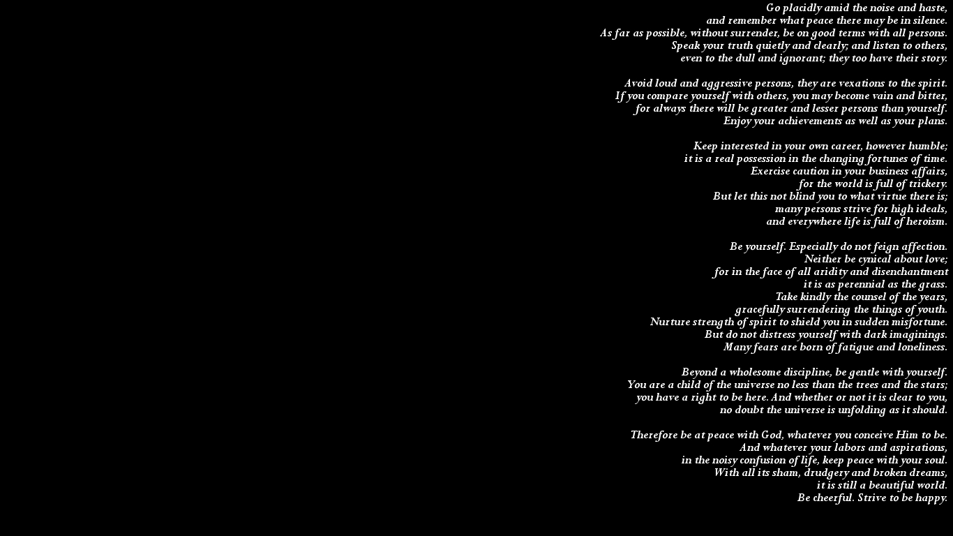Text quotes black background 1366x768 wallpaper free desktop