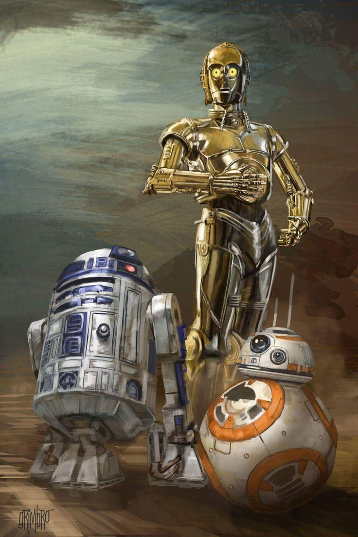 Star Wars Android Wallpaper Star Wars R2d2 C3po Bb8 Hd