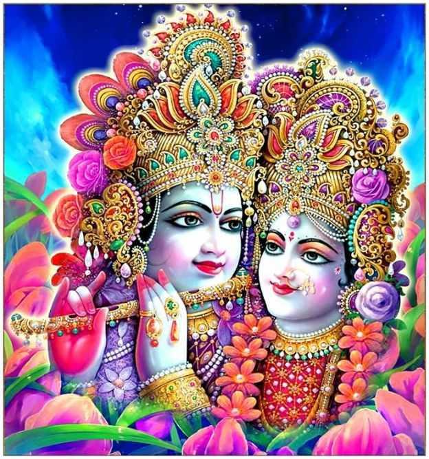 Whatsapp DP 3D Wallpaper Shri New Radha Krishna HD