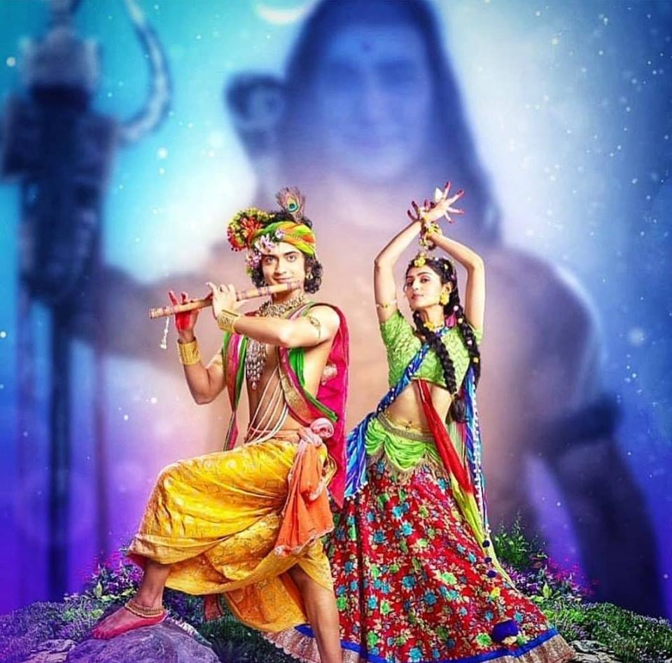 Abstract Radha Krishna Wallpaper Hd